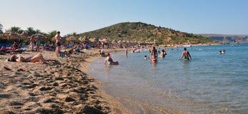 Coastline and beaches, the island of Crete, Greece, Europe Stock Photos