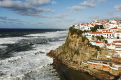 Coastline. Beautiful fishing village in the west coast of Portugal Stock Images