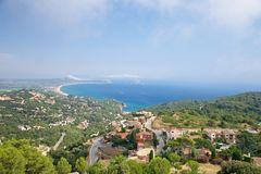 Coastline from Begur Royalty Free Stock Photos