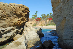 Coastline below Montage Resort Laguna Beach, California. Royalty Free Stock Images