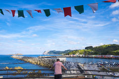 Coastline of Bermeo, small fisherman village Stock Photo
