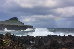 Coastline at Biscoitos, Terceira Royalty Free Stock Images