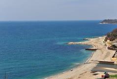 Coastline of Black sea, Russia Stock Photos