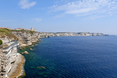 Coastline of Bonifacio, Corsica Stock Images