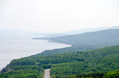 Coastline. Of Breton Highlands national park in Nova Scotia, Canada Stock Image