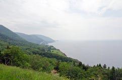 Coastline. Of Breton Highlands national park in Nova Scotia, Canada Royalty Free Stock Photo