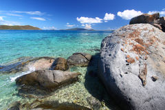 Coastline in British Virgin Islands. Stock Image