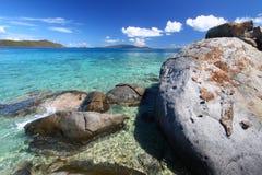 Coastline in British Virgin Islands. Stock Image