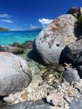 Coastline in British Virgin Islands. Stock Images