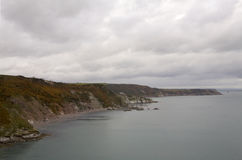 Coastline between Brixham and Dartmouth, Devon. Stock Images