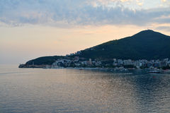 Coastline of  Budva in Montenegro Stock Photography