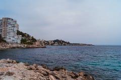 Coastline in Palma de Mallorca stock images