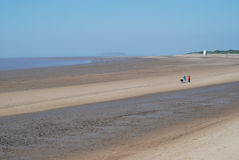 Coastline at Burnham-on-Sea, UK Stock Images
