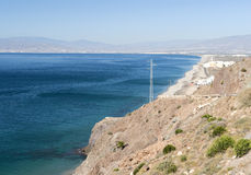 Coastline from Cabo De Gata to Almeria City Stock Images