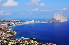 Coastline of Calpe, Spain Stock Image