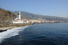 Coastline at Candelaria, Tenerife Spain Royalty Free Stock Photos