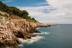 Coastline at Cap Antibes Stock Photo
