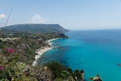 Coastline at Capo Vaticano near Tropea, Calabria, Italy Stock Images