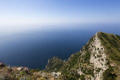 Coastline of Capri island, Capri, Italy Royalty Free Stock Photography