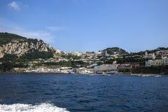 Coastline of Capri island, Capri, Italy Stock Image