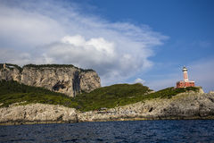 Coastline of Capri island, Capri, Italy Royalty Free Stock Photo