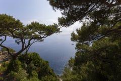 Coastline of Capri island, Capri, Italy Royalty Free Stock Image