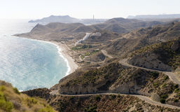 Coastline of Carbonares near Mojacar Stock Image
