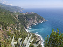 Coastline of Cinque Terre Stock Images