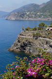 Coastline of Cinque Terre Stock Photos