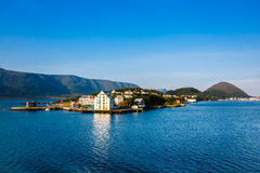 The coastline of the city of Alesund Royalty Free Stock Image