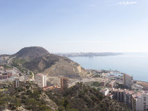 The coastline of the city of Alicante Stock Images