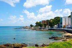 Coastline city of Salvador Bahia, Brazil royalty free stock photo