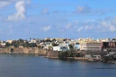 Coastline and city views along Old San Juan , Puerto Rico. Coastline and city views along the island of Old San Juan , Puerto Rico royalty free stock photography
