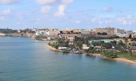 Coastline and city views along Old San Juan , Puerto Rico. Coastline and city views along the island of Old San Juan , Puerto Rico royalty free stock image
