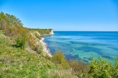 Cliffs near Kap Arkona, Germany royalty free stock images
