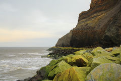 The coastline and cliffs at Whitby Stock Photos