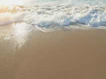 Coastline closeup with golden sunset light Royalty Free Stock Images