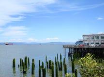 Coastline of Columbia river. Stock Photography
