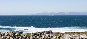 Coastline. Of Corrubedo in Galicia Royalty Free Stock Photo
