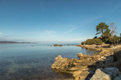 Coastline of Corsica near Saint Florent Royalty Free Stock Photography