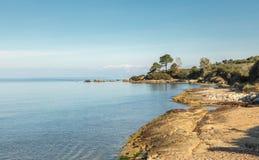Coastline of Corsica near Saint Florent Royalty Free Stock Image