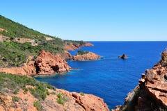 Coastline Cote d'Azur Stock Image