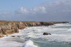 Coastline Cote Sauvage on the peninsula Quiberon, Brittany