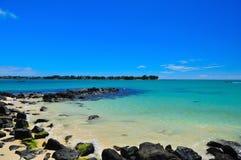 Coastline Cove. Nice serene view of mauritius shoreline Stock Photography