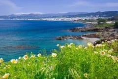Coastline of Crete, Greece. Coastline of Balos peninsula on Crete, Greece Royalty Free Stock Photography