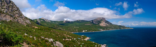 Coastline in Crimea. Black sea. Ukraine. Royalty Free Stock Photos
