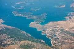 The coastline of Croatia Royalty Free Stock Photos