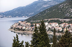 The Coastline of Croatia near Dubrovnic in Croatia Europe It is one of the most delightful tourist resorts of the Mediterranean. Stock Photos