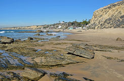 Coastline at Crystal Cove State Park, Southern California. royalty free stock images