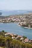 Coastline of Dalmatia - Sibenik area Stock Photos